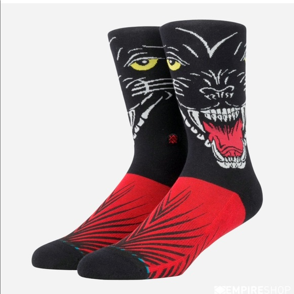 Stance 526 x Klay Thompson Socks Men L 9-12 Black Panther K1 Classic Light